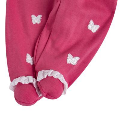 Imagem 4 do produto Jogo Maternidade com Macacão e Manta para bebe em algodão egípcio c/ jato de cerâmica Papillon - Mini & Classic - 4716658 JOGO MATERNIDADE MAC ML DET RENDA SUEDINE FLORAL NAVY-P