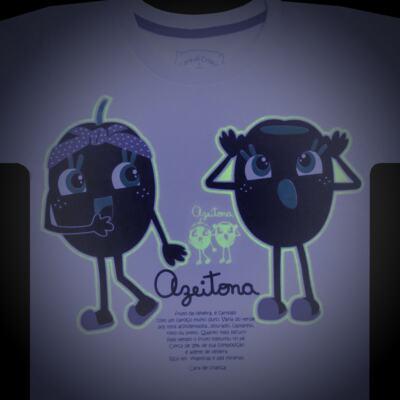 Imagem 4 do produto Pijama longo que Brilha no Escuro Azeitoninha - Cara de Criança - L1638 AZEITONA L PJ-LONGO M/MALHA-3