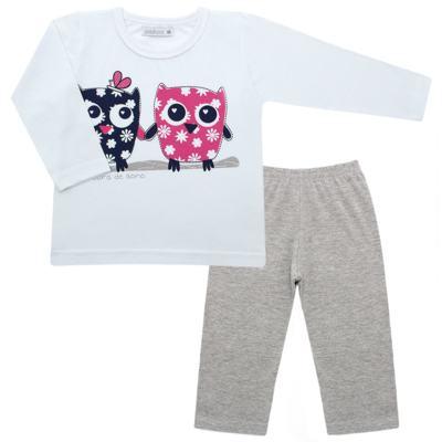 Imagem 1 do produto Pijama longo em malha Corujinhas - Cara de Sono - L1742-CORUJAS L PJ-LONGO M/MALHA-4