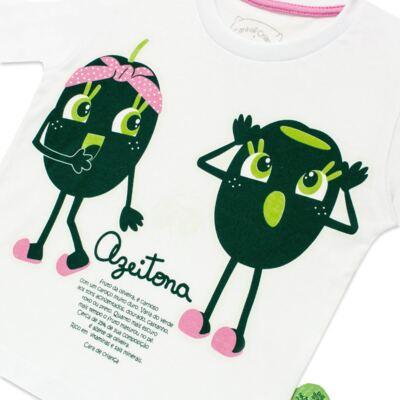 Imagem 3 do produto Pijama longo que Brilha no Escuro Azeitoninha - Cara de Criança - L1638 AZEITONA L PJ-LONGO M/MALHA-2