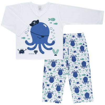Imagem 1 do produto Pijama longo em malha Polvinho - Cara de Sono - L1991 POLVO L PJ-LONGO M/MALHA -4