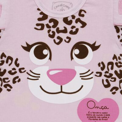 Imagem 3 do produto Pijama longo que Brilha no Escuro Oncinha - Cara de Criança - L1820 ONCA PINTADA L PJ-LONGO M/MALHA-2