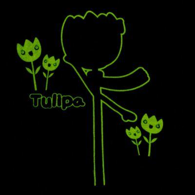 Imagem 5 do produto Pijama longo que Brilha no Escuro Tulipinha - Cara de Criança - L1687 TULIPA L PJ-LONGO CANELADO -3