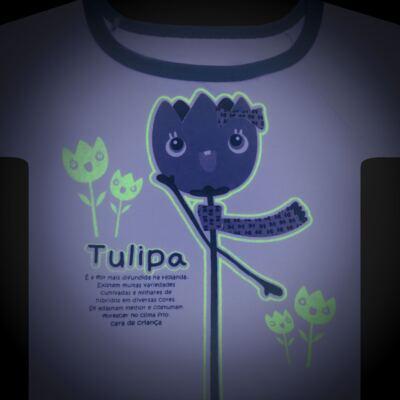 Imagem 4 do produto Pijama longo que Brilha no Escuro Tulipinha - Cara de Criança - L1687 TULIPA L PJ-LONGO CANELADO -1