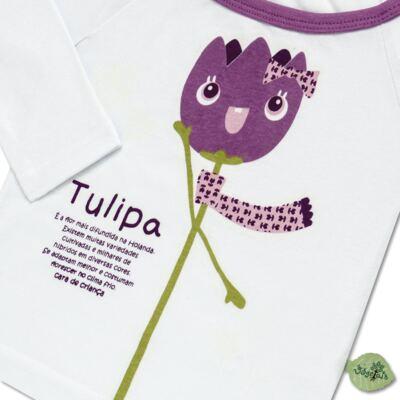 Imagem 3 do produto Pijama longo que Brilha no Escuro Tulipinha - Cara de Criança - L1687 TULIPA L PJ-LONGO CANELADO -2