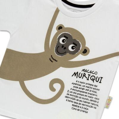 Imagem 3 do produto Pijama longo que Brilha no Escuro Muriqui - Cara de Criança - L1660 MURIQUI L PJ-LONGO M/MALHA -3