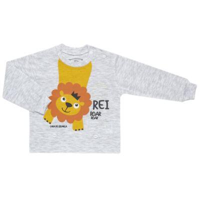 Imagem 2 do produto Pijama 4 botões que Brilha no Escuro Lion - Cara de Criança - 4L1943 REI LEAO 4L PJ 4 BOTOES - LONGO M/MALHA-M