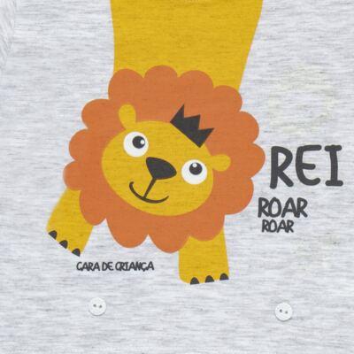 Imagem 3 do produto Pijama 4 botões que Brilha no Escuro Lion - Cara de Criança - 4L1943 REI LEAO 4L PJ 4 BOTOES - LONGO M/MALHA-M