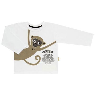 Imagem 2 do produto Pijama longo que Brilha no Escuro Muriqui - Cara de Criança - L1660 MURIQUI L PJ-LONGO M/MALHA -2