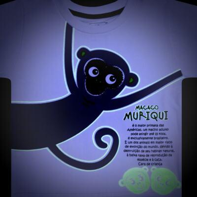 Imagem 4 do produto Pijama longo que Brilha no Escuro Muriqui - Cara de Criança - L1660 MURIQUI L PJ-LONGO M/MALHA -2