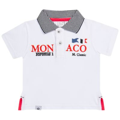 Imagem 1 do produto Camiseta polo em cotton Racing - Mini & Classic - 6012668 CAMISETA POLO M/C COTTON GRAND PRIX-GG