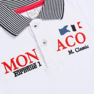 Imagem 2 do produto Camiseta polo em cotton Racing - Mini & Classic - 6012668 CAMISETA POLO M/C COTTON GRAND PRIX-RN