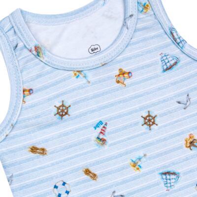 Imagem 2 do produto Regata em algodão egípcio Blue Anchor - Bibe - 38O02-G54 Regata Estampa Digital Azul-GG