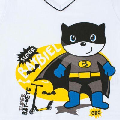 Imagem 3 do produto Pijama que Brilha no escuro BatBiel - Cara de Criança - L2378 BATBIEL L PJ-LONGO M/MALHA -3