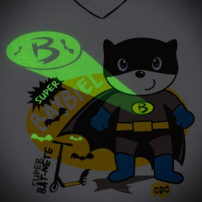 Imagem 4 do produto Pijama que Brilha no escuro BatBiel - Cara de Criança - L2378 BATBIEL L PJ-LONGO M/MALHA -2