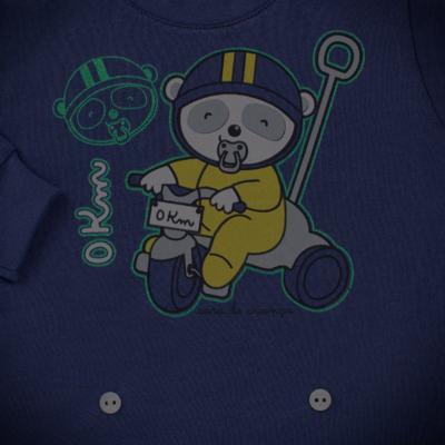 Imagem 4 do produto Pijama 4 botões que Brilha no Escuro Biel Bike - Cara de Criança - 4L2338 BIEL BIKE 4L PJ 4 BOTOES-LONGO M/MALHA-P