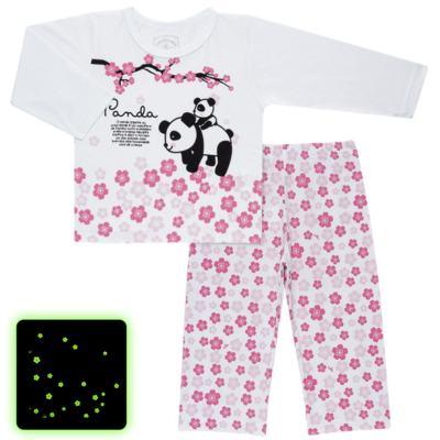 Imagem 1 do produto Pijama longo que Brilha no Escuro Panda - Cara de Criança - L1816 PANDA SAKURA L PJ - LONGO M/MALHA-1