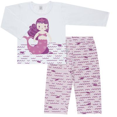 Imagem 1 do produto Pijama longo em malha Mermaid - Cara de Sono - L1995 PEQUENA SEREIA L PJ-LONGO M/MALHA -1