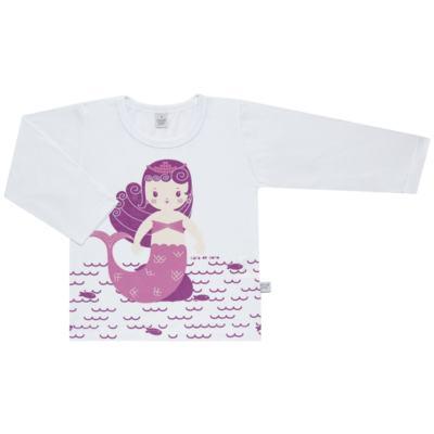 Imagem 2 do produto Pijama longo em malha Mermaid - Cara de Sono - L1995 PEQUENA SEREIA L PJ-LONGO M/MALHA -1