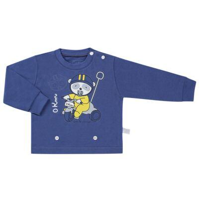 Imagem 2 do produto Pijama 4 botões que Brilha no Escuro Biel Bike - Cara de Criança - 4L2338 BIEL BIKE 4L PJ 4 BOTOES-LONGO M/MALHA-G