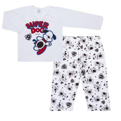 Imagem 1 do produto Pijama longo em malha Super Dog - Cara de Sono - L2462 SUPER DOG L PJ-LONGO M/MALHA-2