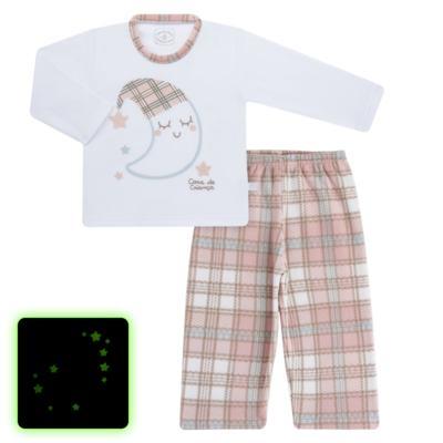 Imagem 1 do produto Pijama longo que Brilha no Escuro em soft Sleepy Moon - Cara de Criança - S2368 LUA S PIJAMA-SOFT SOFT-3