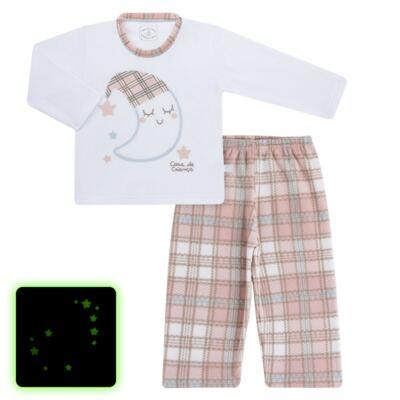 Pijama longo que Brilha no Escuro em soft Sleepy Moon - Cara de Criança - S2368 LUA S PIJAMA-SOFT SOFT-4