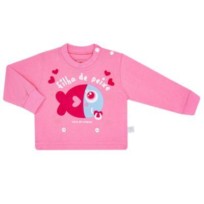 Imagem 2 do produto Pijama 4 botões que Brilha no Escuro Filha de Peixe - Cara de Criança - 4L2703 FILHA DE PEIXE 4L PJ 4 BOTOES LONGO M/MALHA-PP