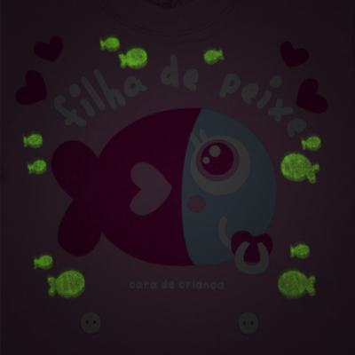 Imagem 3 do produto Pijama 4 botões que Brilha no Escuro Filha de Peixe - Cara de Criança - 4L2703 FILHA DE PEIXE 4L PJ 4 BOTOES LONGO M/MALHA-PP