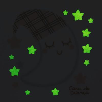Imagem 4 do produto Pijama longo que Brilha no Escuro em soft Sleepy Moon - Cara de Criança - S2368 LUA S PIJAMA-SOFT SOFT-4