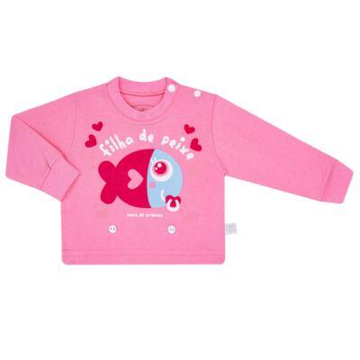 Imagem 2 do produto Pijama 4 botões que Brilha no Escuro Filha de Peixe - Cara de Criança - 4L2703 FILHA DE PEIXE 4L PJ 4 BOTOES LONGO M/MALHA-G