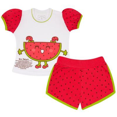 Imagem 1 do produto Pijama Curto que Brilha no Escuro Melancia - Cara de Criança - U0686 PIJAMA CURTO QUE BRILHA NO ESCURO MELANCIA-1
