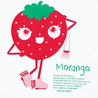 Imagem 3 do produto Pijama longo que Brilha no Escuro Moranguinho - Cara de Criança - L1635 MORANGO L PJ-LONGO M/MALHA-2