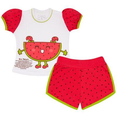 Imagem 1 do produto Pijama Curto que Brilha no Escuro Melancia - Cara de Criança - U0686 PIJAMA CURTO QUE BRILHA NO ESCURO MELANCIA-8