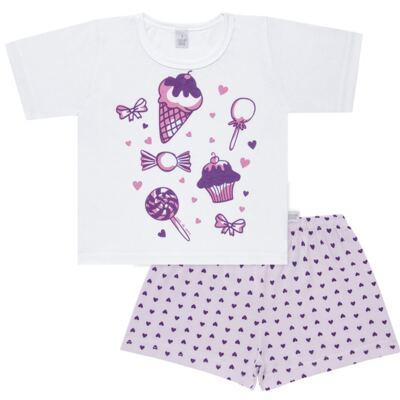 Imagem 1 do produto Pijama curto com Shorts em malha Candy - Cara de Sono - U1998 GULOSEIMAS U PIJAMA-CURTO M/MALHA -4