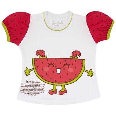 Imagem 2 do produto Pijama Curto que Brilha no Escuro Melancia - Cara de Criança - U0686 PIJAMA CURTO QUE BRILHA NO ESCURO MELANCIA-2