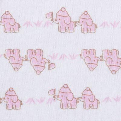 Imagem 3 do produto Conjunto Pagão Elefantinha: Casaquinho + Body longo + Calça - Tilly Baby - TB170221.02 KIT BODY CALCA E CASACO ELEFANTINHOS ROSA BEBE-G
