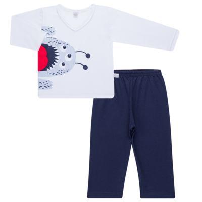 Imagem 1 do produto Pijama longo em malha Monstrinho - Cara de Sono - L2452 MONSTRINHO L PJ-LONGO M/MALHA-4