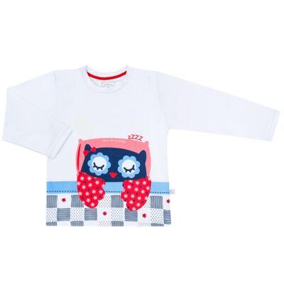 Imagem 2 do produto Pijama longo que Brilha no escuro Coruja - Cara de Criança - L2394 CORUJA L PJ-LONGO M/MALHA-4