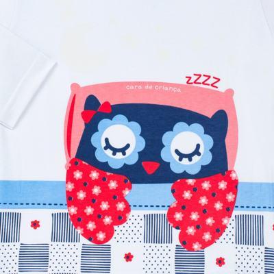 Imagem 3 do produto Pijama longo que Brilha no escuro Coruja - Cara de Criança - L2394 CORUJA L PJ-LONGO M/MALHA-6