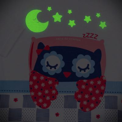 Imagem 4 do produto Pijama longo que Brilha no escuro Coruja - Cara de Criança - L2394 CORUJA L PJ-LONGO M/MALHA-6