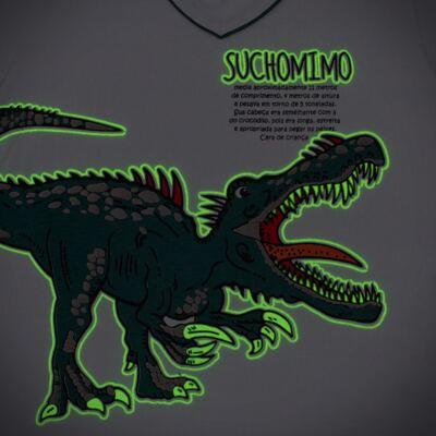 Imagem 4 do produto Pijama longo que Brilha no escuro Dinossauro - Cara de Criança - L2356 DINOSSAURO L PJ-LONGO M/MALHA-1