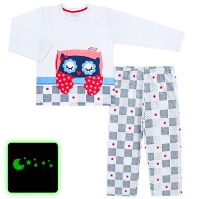 Imagem 1 do produto Pijama longo que Brilha no escuro Coruja - Cara de Criança - L2394 CORUJA L PJ-LONGO M/MALHA-8