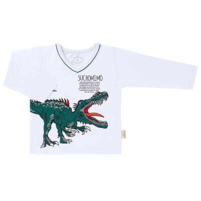 Imagem 2 do produto Pijama longo que Brilha no escuro Dinossauro - Cara de Criança - L2356 DINOSSAURO L PJ-LONGO M/MALHA-2