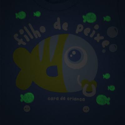 Imagem 3 do produto Pijama 4 botões que Brilha no Escuro Filho de Peixe - Cara de Criança - 4L2704 FILHO DE PEIXE 4L PJ 4 BOTOES LONGO M/MALHA-PP