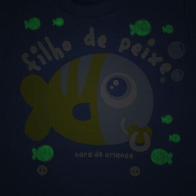 Imagem 3 do produto Pijama 4 botões que Brilha no Escuro Filho de Peixe - Cara de Criança - 4L2704 FILHO DE PEIXE 4L PJ 4 BOTOES LONGO M/MALHA-M