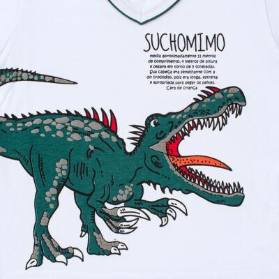 Imagem 3 do produto Pijama longo que Brilha no escuro Dinossauro - Cara de Criança - L2356 DINOSSAURO L PJ-LONGO M/MALHA-6