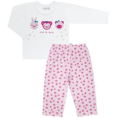 Imagem 1 do produto Pijama longo em malha Bichinhos - Cara de Sono - L1743 ANIMAIS FEM. L PJ-LONGO M/MALHA-2
