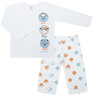 Imagem 1 do produto Pijama longo em malha Bichinhos - Cara de Sono - L1733-ANIMAIS MASC L PJ-LONGO M/MALHA-1
