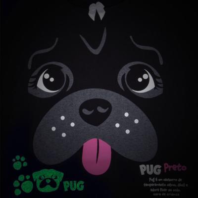 Imagem 3 do produto Pijama longo para bebe que Brilha no Escuro Black Pug - Cara de Criança - L2341 PUG FEM L PJ-LONGO M/MALHA -6